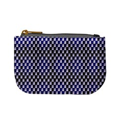 Squares Blue Background Mini Coin Purses by Simbadda