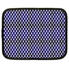 Squares Blue Background Netbook Case (xl)  by Simbadda