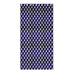 Squares Blue Background Shower Curtain 36  X 72  (stall)  by Simbadda