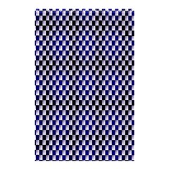 Squares Blue Background Shower Curtain 48  X 72  (small)