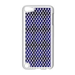 Squares Blue Background Apple Ipod Touch 5 Case (white) by Simbadda