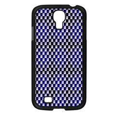 Squares Blue Background Samsung Galaxy S4 I9500/ I9505 Case (black) by Simbadda