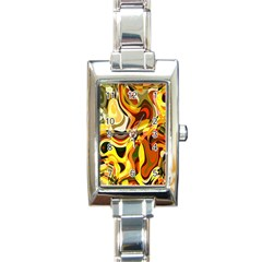 Colourful Abstract Background Design Rectangle Italian Charm Watch