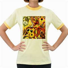 Colourful Abstract Background Design Women s Fitted Ringer T Shirts