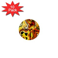 Colourful Abstract Background Design 1  Mini Buttons (10 Pack)