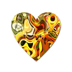 Colourful Abstract Background Design Heart Magnet by Simbadda