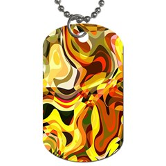 Colourful Abstract Background Design Dog Tag (two Sides)