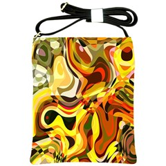 Colourful Abstract Background Design Shoulder Sling Bags by Simbadda