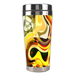 Colourful Abstract Background Design Stainless Steel Travel Tumblers by Simbadda