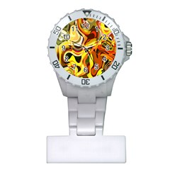 Colourful Abstract Background Design Plastic Nurses Watch