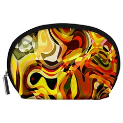 Colourful Abstract Background Design Accessory Pouches (large)  by Simbadda