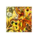 Colourful Abstract Background Design Satin Bandana Scarf Front