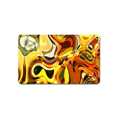 Colourful Abstract Background Design Magnet (name Card) by Simbadda