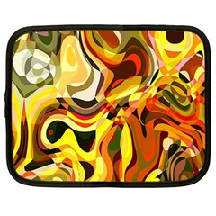 Colourful Abstract Background Design Netbook Case (large) by Simbadda