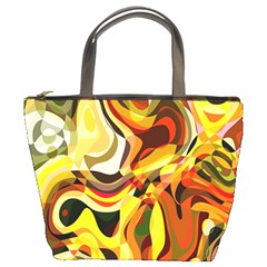 Colourful Abstract Background Design Bucket Bags by Simbadda