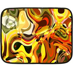 Colourful Abstract Background Design Double Sided Fleece Blanket (mini)