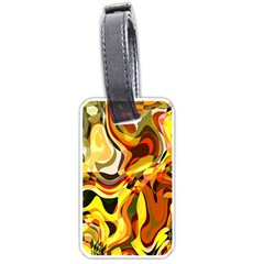 Colourful Abstract Background Design Luggage Tags (one Side)  by Simbadda