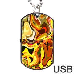 Colourful Abstract Background Design Dog Tag Usb Flash (one Side) by Simbadda