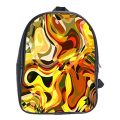 Colourful Abstract Background Design School Bags (xl)  by Simbadda
