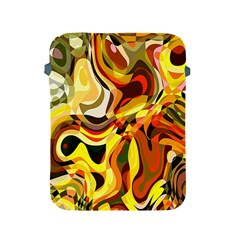 Colourful Abstract Background Design Apple Ipad 2/3/4 Protective Soft Cases by Simbadda