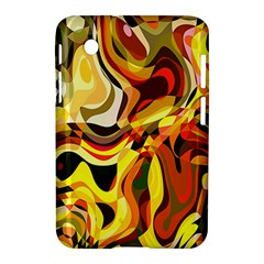 Colourful Abstract Background Design Samsung Galaxy Tab 2 (7 ) P3100 Hardshell Case  by Simbadda