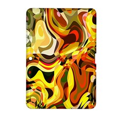 Colourful Abstract Background Design Samsung Galaxy Tab 2 (10 1 ) P5100 Hardshell Case  by Simbadda