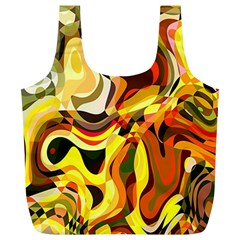Colourful Abstract Background Design Full Print Recycle Bags (l)  by Simbadda