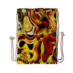 Colourful Abstract Background Design Drawstring Bag (small)
