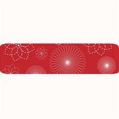 Floral Spirals Wallpaper Background Red Pattern Large Bar Mats by Simbadda