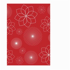 Floral Spirals Wallpaper Background Red Pattern Large Garden Flag (two Sides) by Simbadda
