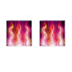 Fire Flames Abstract Background Cufflinks (square) by Simbadda