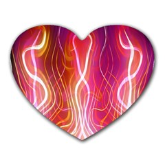 Fire Flames Abstract Background Heart Mousepads by Simbadda