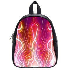 Fire Flames Abstract Background School Bags (small)