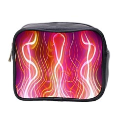 Fire Flames Abstract Background Mini Toiletries Bag 2 Side by Simbadda