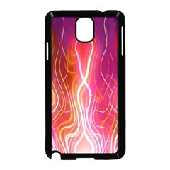 Fire Flames Abstract Background Samsung Galaxy Note 3 Neo Hardshell Case (black) by Simbadda