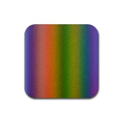 Colorful Stipple Effect Wallpaper Background Rubber Square Coaster (4 Pack)  by Simbadda