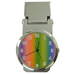 Colorful Stipple Effect Wallpaper Background Money Clip Watches Front
