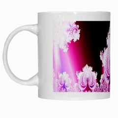 Fractal In Pink Lovely White Mugs by Simbadda
