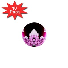 Fractal In Pink Lovely 1  Mini Magnet (10 Pack)  by Simbadda