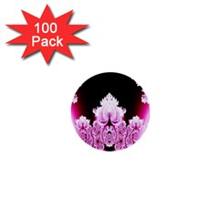 Fractal In Pink Lovely 1  Mini Buttons (100 Pack)