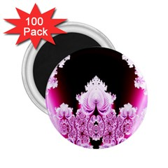 Fractal In Pink Lovely 2 25  Magnets (100 Pack)  by Simbadda