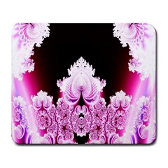 Fractal In Pink Lovely Large Mousepads by Simbadda