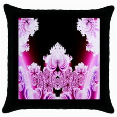 Fractal In Pink Lovely Throw Pillow Case (black) by Simbadda
