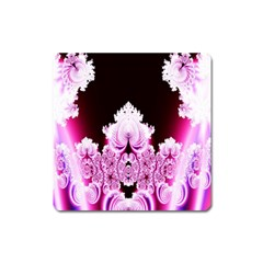 Fractal In Pink Lovely Square Magnet by Simbadda