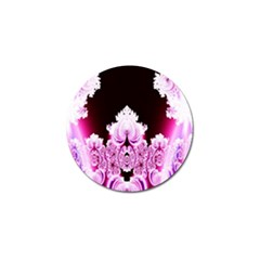 Fractal In Pink Lovely Golf Ball Marker by Simbadda