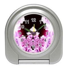 Fractal In Pink Lovely Travel Alarm Clocks by Simbadda