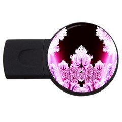 Fractal In Pink Lovely Usb Flash Drive Round (4 Gb) by Simbadda