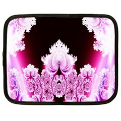 Fractal In Pink Lovely Netbook Case (large) by Simbadda
