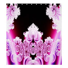 Fractal In Pink Lovely Shower Curtain 66  X 72  (large)  by Simbadda