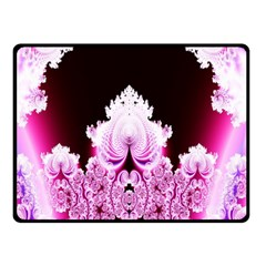 Fractal In Pink Lovely Fleece Blanket (small) by Simbadda